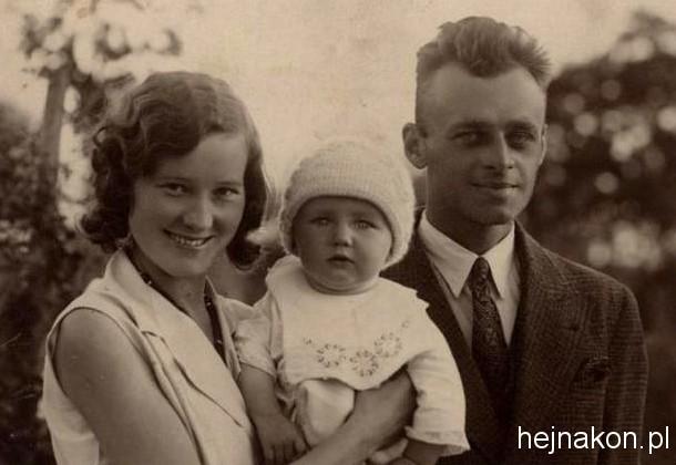 Maria i Witold Pilecki z synem Andrzejem. Foto ze zbiorów rodzinnnych.